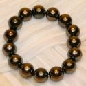 Armband Perlkugel braun-grau