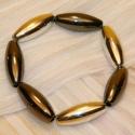 Armband elypse braun-silber
