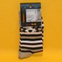 Damen-Socken braun gestreift