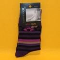 Damen-Socken lila gestreift