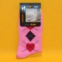 Damen-Socken rosa gemustert