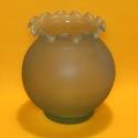 Dekor-Vase Glas mattblau