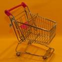 Einkaufswagen metall lila