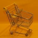 Einkaufswagen metall gelb