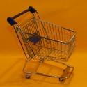 Einkaufswagen metall blau