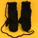 Fausthandschuhe strickgarn schwarz