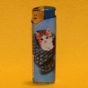 Feuerzeug Motiv Katze blau