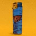Feuerzeug Motiv Hund blau