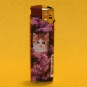 Feuerzeug Motiv Katze lila