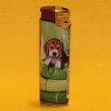 Feuerzeug Motiv Hund grün