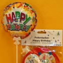 Folienballon Happy Birthday mit Halter