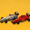 Formel1 Rennwagen rot + silber