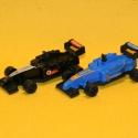 Formel1 Rennwagen blau + schwarz