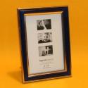 Fotorahmen Zierrand blau 10x15cm