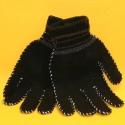Handschuhe schwarz Polyester