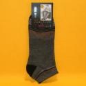 Herren-Socken grau/farbig gestreift