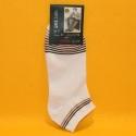 Herren-Socken weiss/farbig gestreift