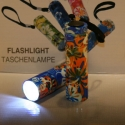 LED Taschenlampe Hawaii blau-orange