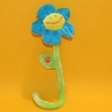 Plüsch-Blume blau mit Stiel 35 cm