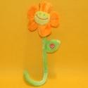 Plüsch-Blume orange mit Stiel 35 cm