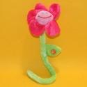 Plüsch-Blume rosa mit Stiel 35 cm