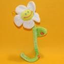 Plüsch-Blume weiss mit Stiel 35 cm