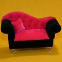 Schmucktruhe Sofa mit Kissen + Spiegel