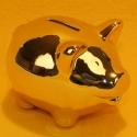 Spardose Schwein metallic gold