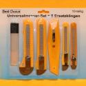 Universalmesser-Set mit 5 Ersatzklingen